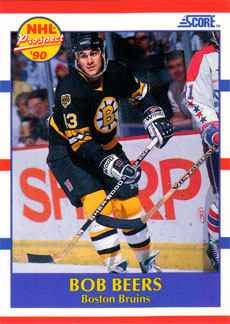 BOB BEERS 1990-91 ** ROOKIE **