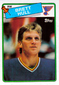 BRETT HULL 1988-89 ** ROOKIE **