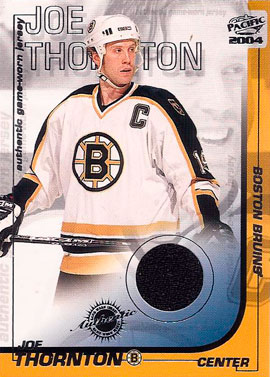 Joe Thornton Hockey Cards Value And Stats