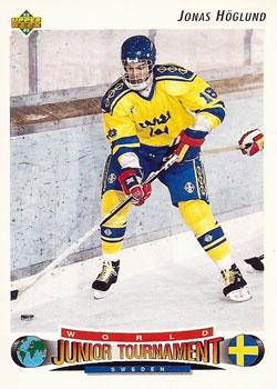 JONAS HOGLUND 1992-93 ** ROOKIE **