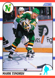 MARK TINORDI 1990-91 ** ROOKIE **
