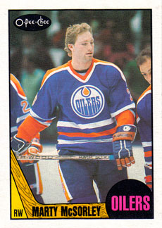MARTY MCSORLEY 1987-88 ** ROOKIE **