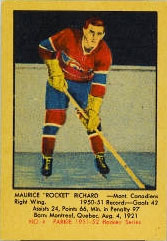 MAURICE RICHARD 1951-52 ** ROOKIE **