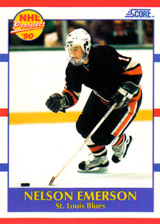 NELSON EMERSON 1990-91 ** ROOKIE **