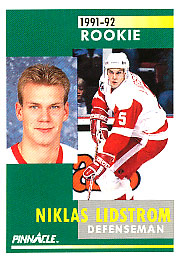 NICKLAS LIDSTROM 1991-92 ** ROOKIE **