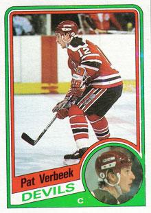 PAT VERBEEK 1984-85 ** ROOKIE **
