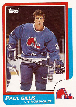 PAUL GILLIS 1986-87 ** ROOKIE **