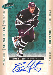 RYAN GETZLAF hockey cards value and stats