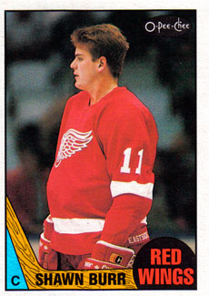 SHAWN BURR 1987-88 ** ROOKIE **