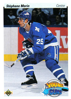 STEPHANE MORIN 1990-91 ** ROOKIE **