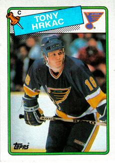 TONY HRKAC 1988-89 ** ROOKIE **