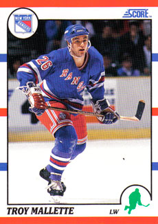TROY MALLETTE 1990-91 ** ROOKIE **